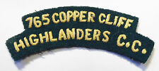 CANADA CANADIAN CADET 765 COPPER CLIFF HIGHLANDERS CC patch shoulder FLASH