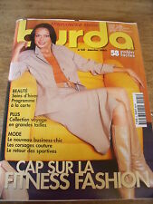 MAGAZINE BURDA CAP SUR LA FITNESS FASHION  N°25  2002