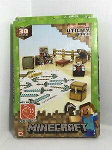 Minecraft Paper Craft Utility Pack - Over 30 Pieces - New/Damaged Box
