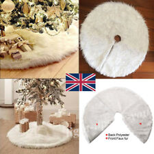 White Snow Plush Skirt Base Floor Mat Cover XMAS Christmas Tree Decor 80CM LIGH