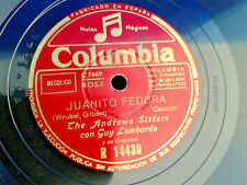 THE ANDREWS  SISTERS - JUANITO FEDORA   - COLUMBIA - SPAIN PRESS