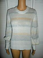 Pretty LC Lauren Conrad size XS off white gray stripe sweater women NWT