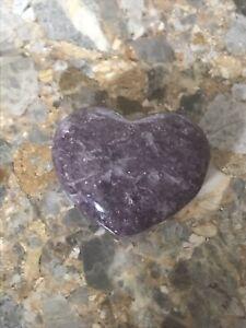 Lepidolite Purple Heart, 3cm Meditation, Reiki Healing,