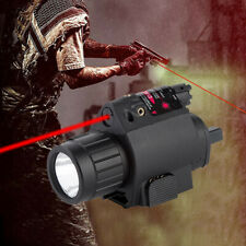 Red Laser/Sight Combo CREE LED Flashlight Tactical For rifle shotgun 20mm Rail
