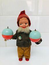 Vintage Clockwork Gnome Pixie Toy ~ West Germany Max Carl Wagner Monkey Head Lab