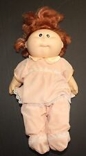Cabbage Patch Kids Doll Vinyl Body Red Hair Brown Eyes Girl Coleco Vintage