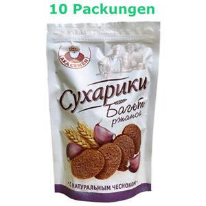 Roggenbrot Croutons Baguette mit Knoblauch 10 Packungen Brotchips