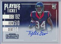 TYLER ERVIN 2016 Contenders Playoff Variation RPS Rookie AUTO /199 - Texans RC