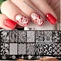 BORN PRETTY Nail Art Stamping Plate Flower Leaf Vine Stamp Template BP-L026