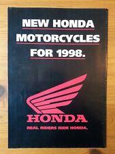 HONDA, Genuine Brochure, Motorcycle Range, 1998, new Honda motorcycles