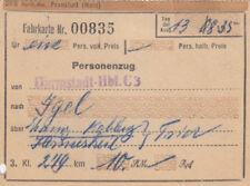 ANTIGUO BILLETE DRG para pasajeros von 1935 para 10,00 RM CLASE 3 (agk1653)