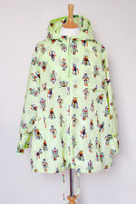 New! PRADA mint green Robot printed shell hooded oversized jacket UK10 US6 IT42