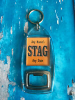Wedding Stag Night Party Personalised Bottle Opener Add Any Name Blue