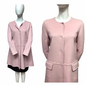 Giambattista Valli Paris Pale Pink Cashmere Swing Coat UK 6-8