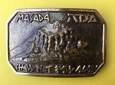 Masada Vintage Handmade In Israel Buckler Limited Solid Brass Belt Buckle