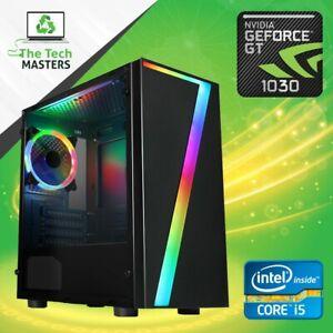 ULTRA FAST Gaming PC Intel Core i5 8GB RAM 120GB SSD + 1TB Windows 10 GT 1030