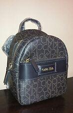 NWT Calvin Klein Jordan Mini Logo Utility Backpack dark brown