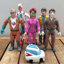 Vintage Kenner 1987 Ghostbusters Figures Job Lot x5 & Mini Rubber Plastic Ecto-1