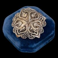 Antique Vintage Deco Retro Sterling Silver Mexican TAXCO HUGE Pin Brooch Pendant