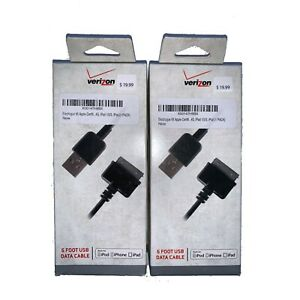 2~10 Lot 6FT Verizon iPhone Charging Sync Cable for iPhone 4 4G 4S 3GS iPod Nano