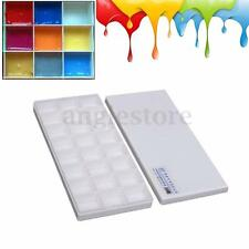 24 Alternatives Paint Tray Artist Oil Watercolor Plastic Palette Supply White