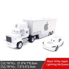 Disney Pixar Cars Mack White Apple Lightning McQueen Truck Toy Car Set Kids Gift