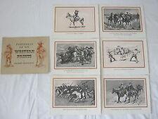 Frederic Remington Western 6 Prints Portfolio