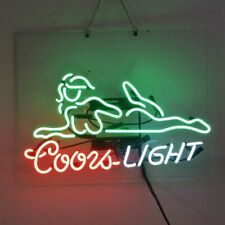 Real Glass Display Neon Signs Coors Light Girl 19X15-007