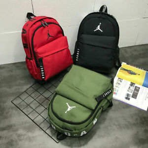 UK Jordan Unisex School Backpack Travel Bags Nylon Shoulders Bag Zip Satchel 25L