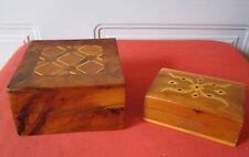 2 boites marquetees olivier thuya coffret marqueterie box