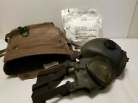 Vintage Gas Mask & Carry Bag Vintage US Military Pack of Filters Size Small