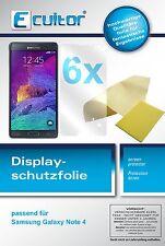 6x Ecultor Samsung Galaxy Note 4 klar Displayschutzfolie Crystalclear unsichtbar