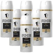 Deo AXE Gold 6 X 150ml Deospray Deodorant Bodyspray Antitranspirant