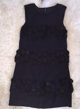 JCrew Collection Embellished Silk Organza Dress Sz 000 E0172 $550 Black NEW