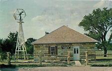 LaCrosse Kansas~Fence Post Rock Museum~Weathervane~1965 Roadside Postcard