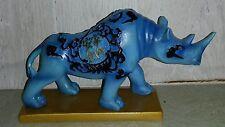 Blue Rhino Figurine Statue Free Shipping