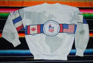 Vtg 80s USA OLYMPICS Training Center FLAG Sweatshirt USA Pullover Shirt RARE Md