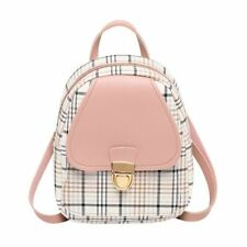 Bag Mini Backpack Cross Body Teenage Girl Plaid Women Shoulder Phone Purse Style
