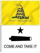 3x5 Come and Take It Flag Dont Don't Tread On Me TEXAS 2 Flag Premium Set