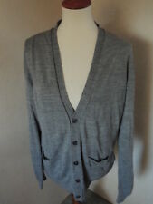 ffda08ef231a60 Women s RIVER ISLAND Gray Thin Knit Sweater Cardigan Large