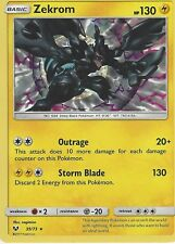 POKEMON SHINING LEGENDS CARD: ZEKROM - 35/73 - RARE HOLO