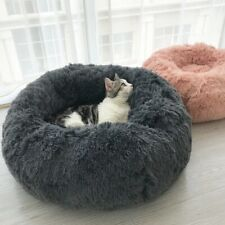 ultra doux lit pour chien chat ronde S-XL coussin panier tapis antistress animal