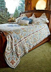 Soft Surroundings Augusta Tapestry Coverlet King Orig $298
