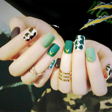 Fashion Dark Green Short False Fake Artificial Toe Nail Tips Toe Nail Art ToolEP