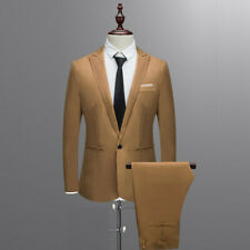 Mens Business Formal Wedding Tuxedos Jacket + Pants Single Breasted Suits Sets