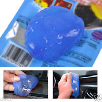 Blue A/C Air Outlet Vent Dashboard Dust Cleaner Glue Super Cleaning Gum Tool