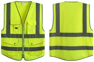 G & F Products Reflective Vest Safety High Visibility with reflective strip