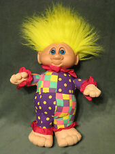 1992 Troll Kyklos Imports (Athens Greece) Stuffed Doll Yellow Hair blue Eyes 15""