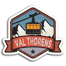 2 x 10cm Val Thorens France Ski Vinyl Stickers - Sticker Laptop Luggage #19518