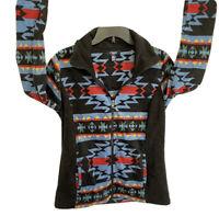 Chaps Aztec pattern Women's full zip Fleece jacket size M
